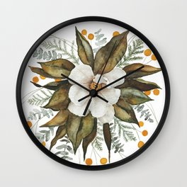 Magnolia Bouquet Wall Clock