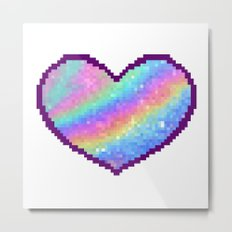 Holographic Heart Metal Print