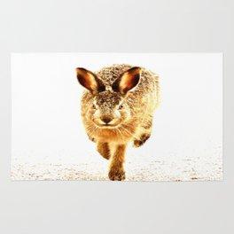 Wait For Me Guys! Hare running #decor #society6 Rug