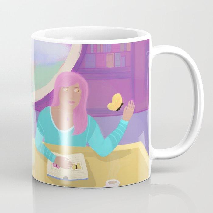 Butterfly Library Coffee Mug