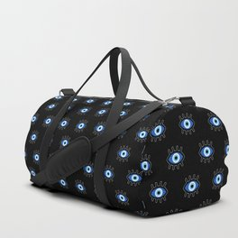 Evil Eye on Black Duffle Bag