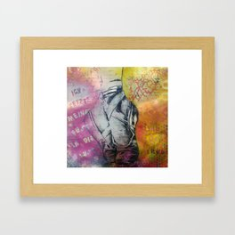 I put my foot in the air and she was wearing Framed Art Print