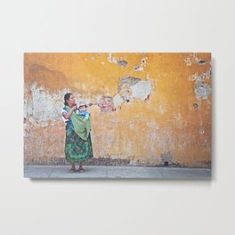 Guatemalan lady Metal Print