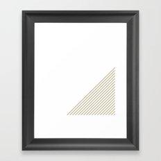 Tan & White Stripes  Framed Art Print