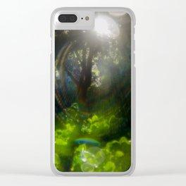 Rainbow Flare (Magic Garden Series) Clear iPhone Case