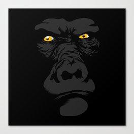 Gorila Eyes Canvas Print