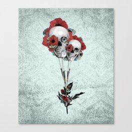 Evolution of poppies.  Canvas Print