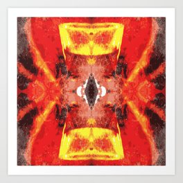 Afro style red yellow Art Print