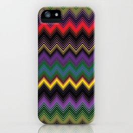 Zigzag Stripe Ethnic Face iPhone Case