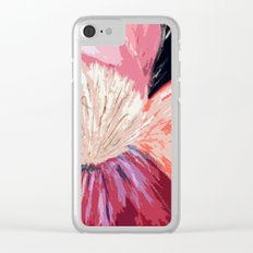 Red Peony Flower Clear iPhone Case