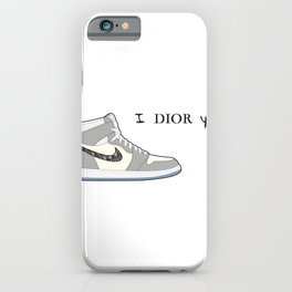 Jordan 1 Grey Valentine's day - I adore you iPhone Case