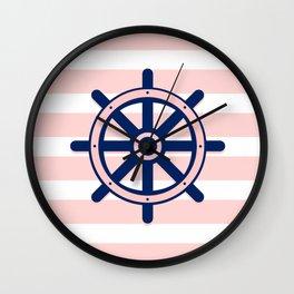 AFE Nautical Helm Wheel 2 Wall Clock