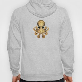 Cute Brown and Yellow Baby Octopus Hoody