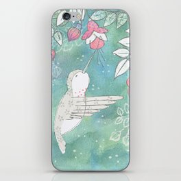 Hummingbird's Garden: In the fuschias iPhone Skin
