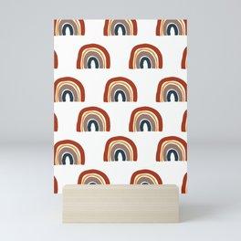 Rainbow nursery pattern Mini Art Print