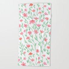 Rose Green Garden Beach Towel