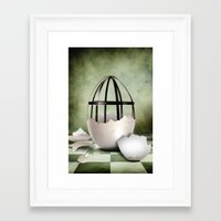 egg Framed Art Prints featuring Egg by Arvydas Butautas