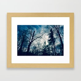 Something's Out There Framed Art Print