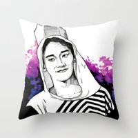 exo Throw Pillows featuring Chen - The Lost Planet - EXO by fabisart