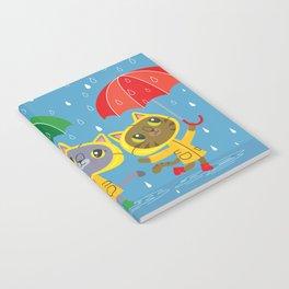 Rainy Day Kitty Cats Notebook