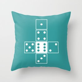Unrolled D6 Throw Pillow