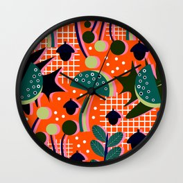 When autumn turns to winter Wall Clock