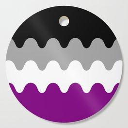 Wavy Asexual Flag Cutting Board