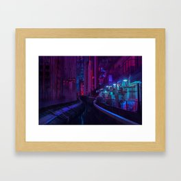 Tokyo Nights / Glitch City / Liam Wong Framed Art Print