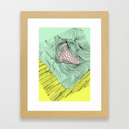 SEXY LAZY LADY SOCKS Framed Art Print