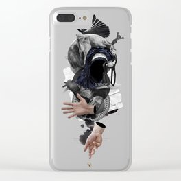 SERENDIP (Totem of the Blind Lame Camel) Clear iPhone Case