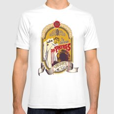 Dr. Phibes Locust Lager SMALL White Mens Fitted Tee