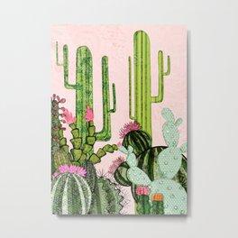 Cacti Collage Metal Print