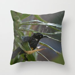 Sprinkler Relief from the Summer Heat Throw Pillow