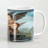 supernatural Mugs featuring Supernatural by RAVEFIRELL