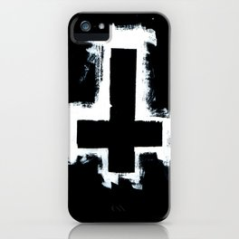 Black and White Inverted Cross iPhone Case