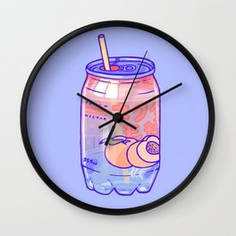 Peach Bubbles Wall Clock