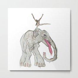 Elefant Maedchen Metal Print