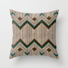 Wood mix mexican Throw Pillow