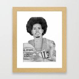 Allen Iverson Rookie Year Portrait Framed Art Print