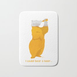 I could Bear a Beer Bath Mat