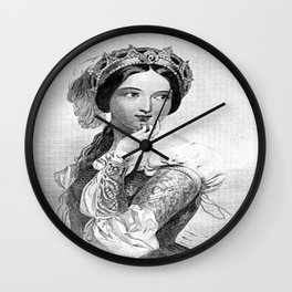 Princess of France Wall Clock