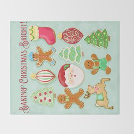 Baking Christmas Bright Throw Blanket