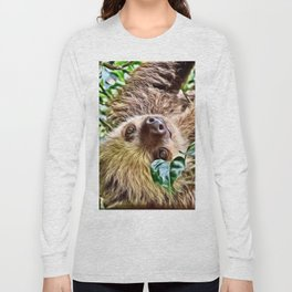 Painted Sloth Long Sleeve T-shirt