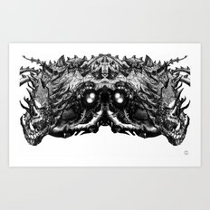 Dragon Machine [Digital Fantasy Illustration] Mirrored version Art Print