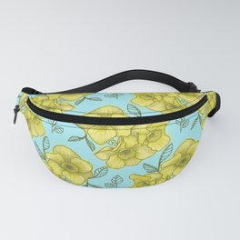 daffodil with light blue background Fanny Pack