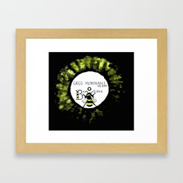 BEE SIDES Framed Art Print