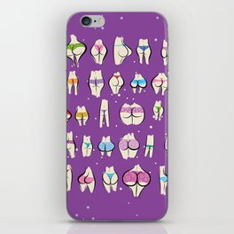 UNDERPANTS Purple iPhone Skin