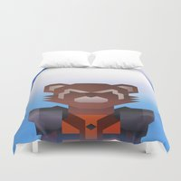 starlord Duvet Covers featuring Guardians of the Galaxy - Rocket Raccoon by Casa del Kables