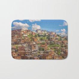 Favelas at Hill, Medellin, Colombia Bath Mat