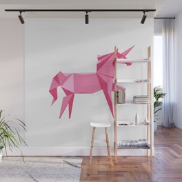 Origami Unicorn Wall Mural